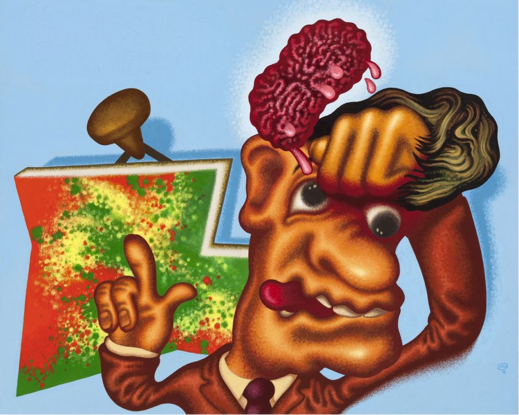 Peter Saul, Art Appreciation, 2016 © Peter Saul. Private collection. Courtesy Michael Werner Gallery, New York London