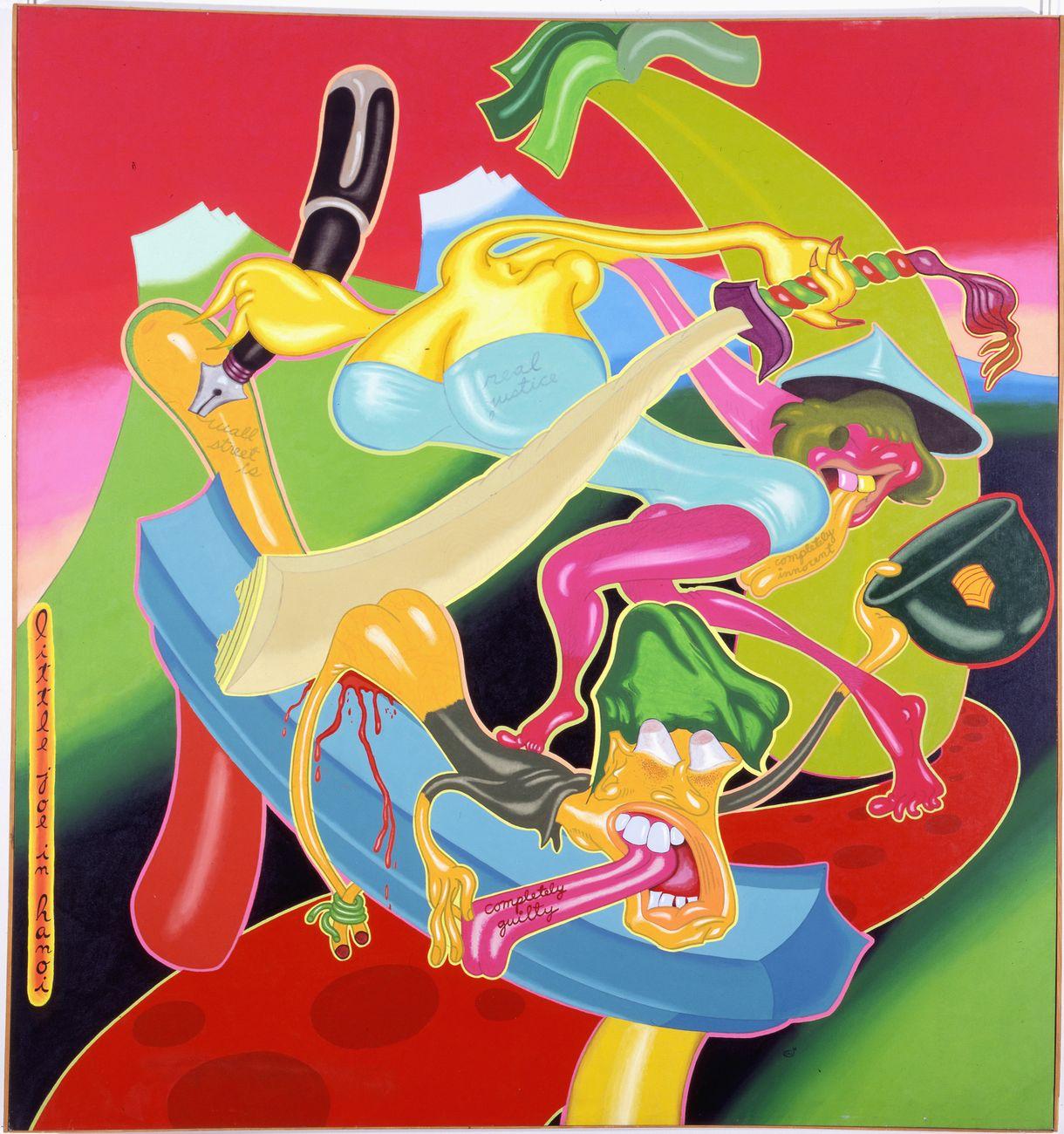 Peter Saul, Little Joe in Hanoï, 1968. Collection Musée des Beaux Arts de Dôle © Peter Saul. Photo Musée des Beaux Arts de Dole, cl. Jean Loup Mathieu