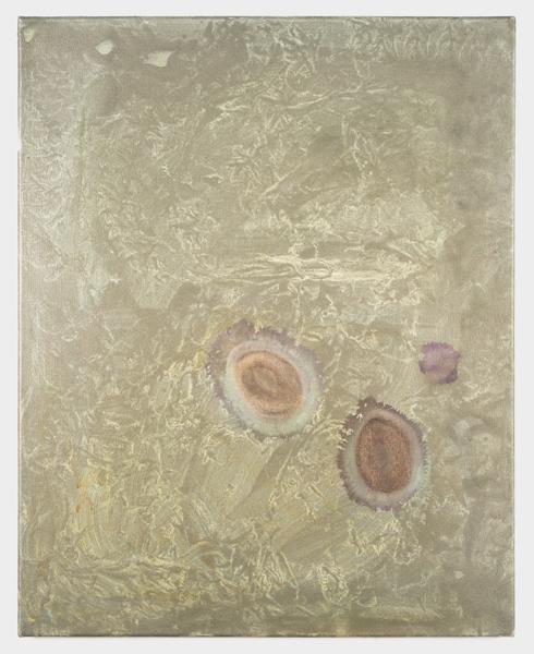 Phoebe Unwin, Lens, 2019, acrilico su tela, cm 76x61. Courtesy l'artista e Amanda Wilkinson Gallery, Londra