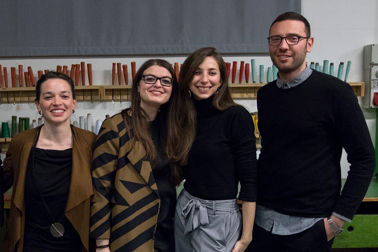Pierre Dupont. Da sx Giulia De Giorgi, Michela Murialdo, Roberta Perego, Davide Spagnoletto. Photo Silvio Russo