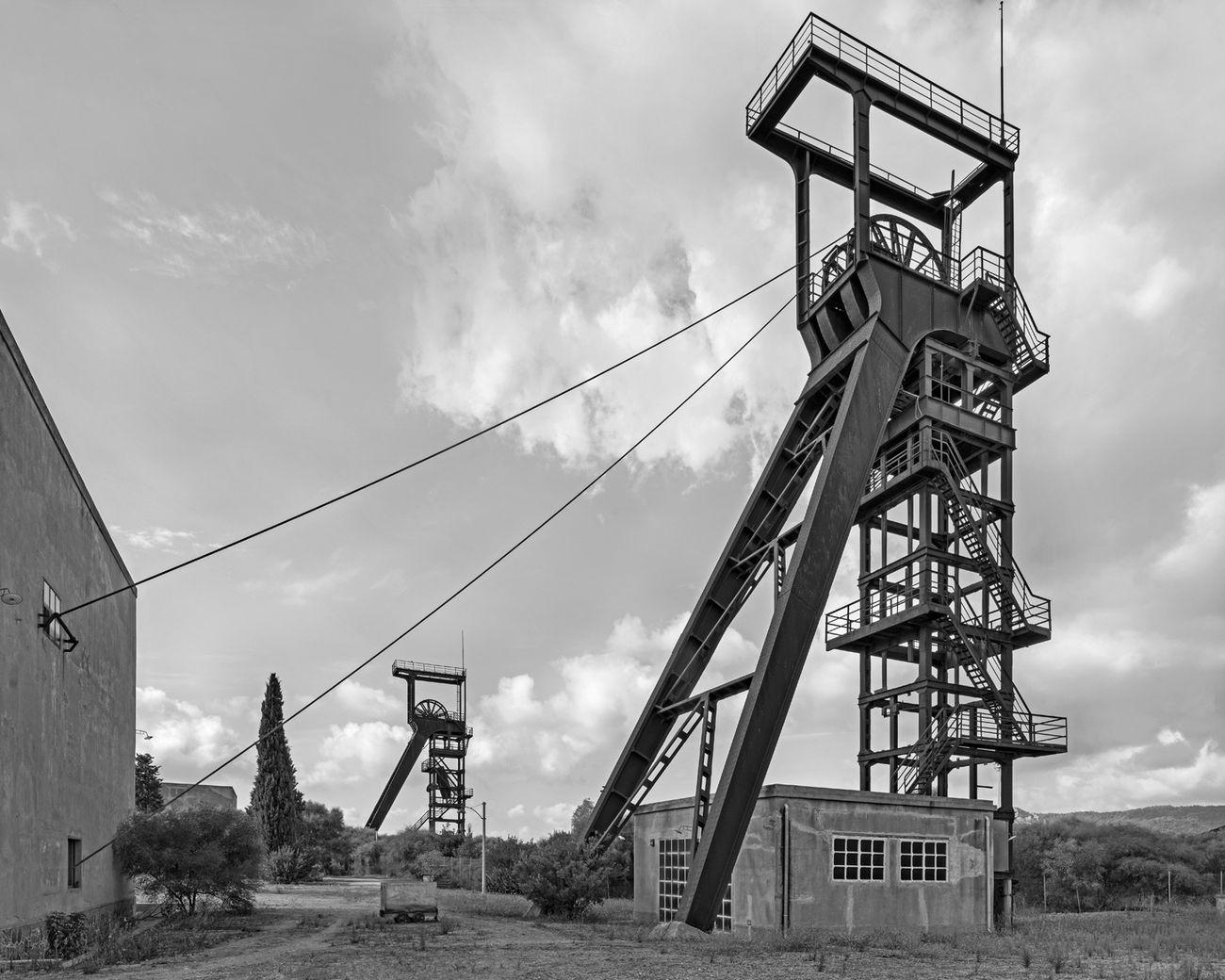 Pino Musi, Sulcis, Carbonia, miniera di Serbariu
