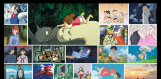 Studio Ghibli film collage