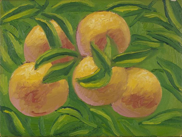 Salvo, Arance, 1981, olio su tela, cm 19x24,5. Courtesy Norma Mangione Gallery e Archivio Salvo, Torino. Foto Sebastiano Pellion di Persano