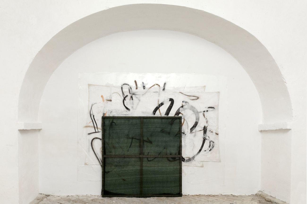 Simone Camerlengo, Ground zero, 2017, mixed media, 250x200 cm. Installation view at MuseoLaboratorio, Città Sant'Angelo. Photo Pierluigi Fabrizio
