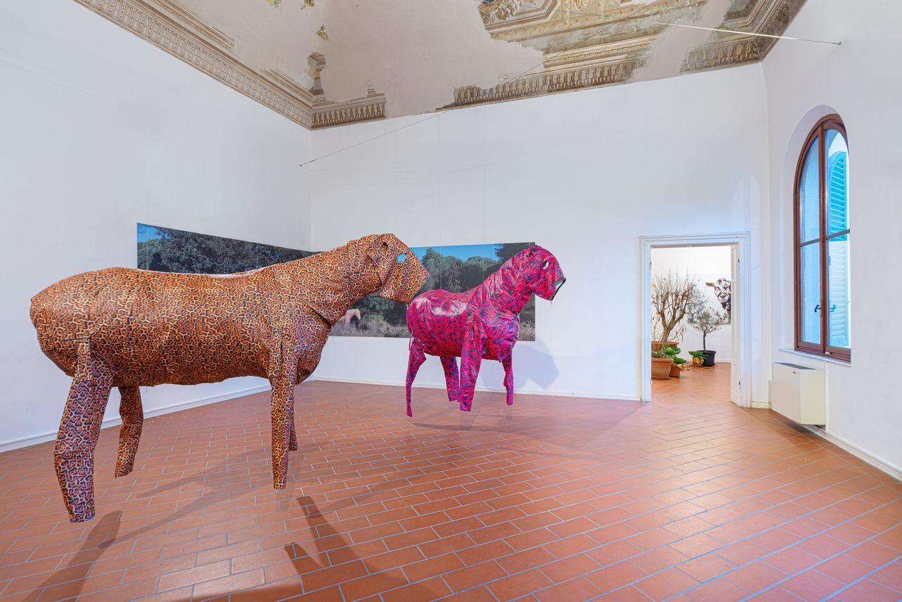 Zhanna Kadyrova Animalier per Arte impresa territorio. Exhibition view at Villa Pacchiani, Santa Croce sull'Arno 2019. Photo OKNO Studio