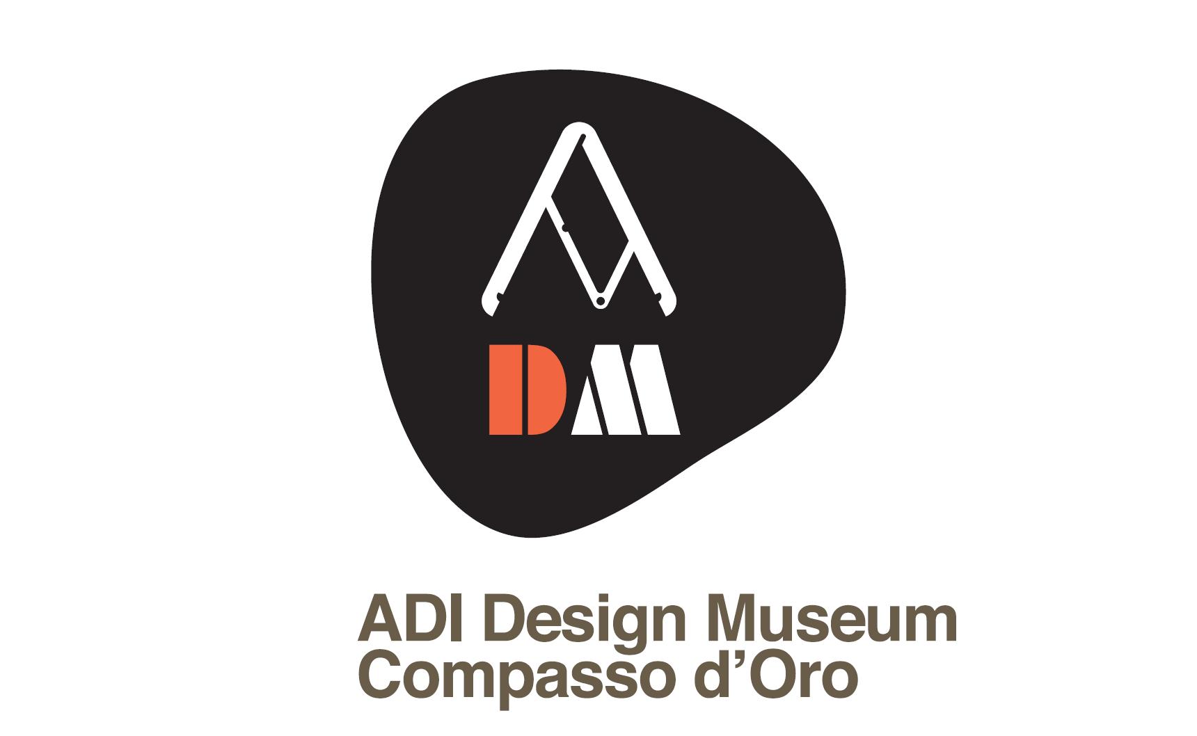 Il logo del Museo del design dell'ADI disegnato da Italo Lupi