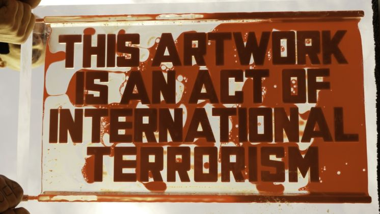Andrei Molodkin, This artwork is an act of international terrorism, 2020