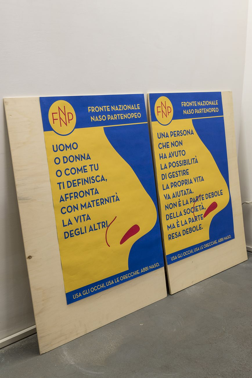 Anna Raimondo, Fronte Nazionale Naso Partenopeo, 2020, particolare, installation view at AlbumArte, Roma 2020. Photo Sebastiano Luciano. Courtesy AlbumArte