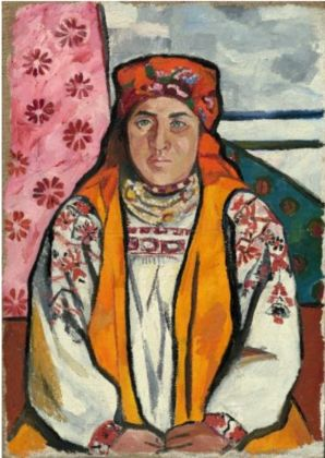 Natalia Goncharova, Peasant Woman from Tula Province (1910). The State Tretyakov gallery. © The State Tretyakov gallery