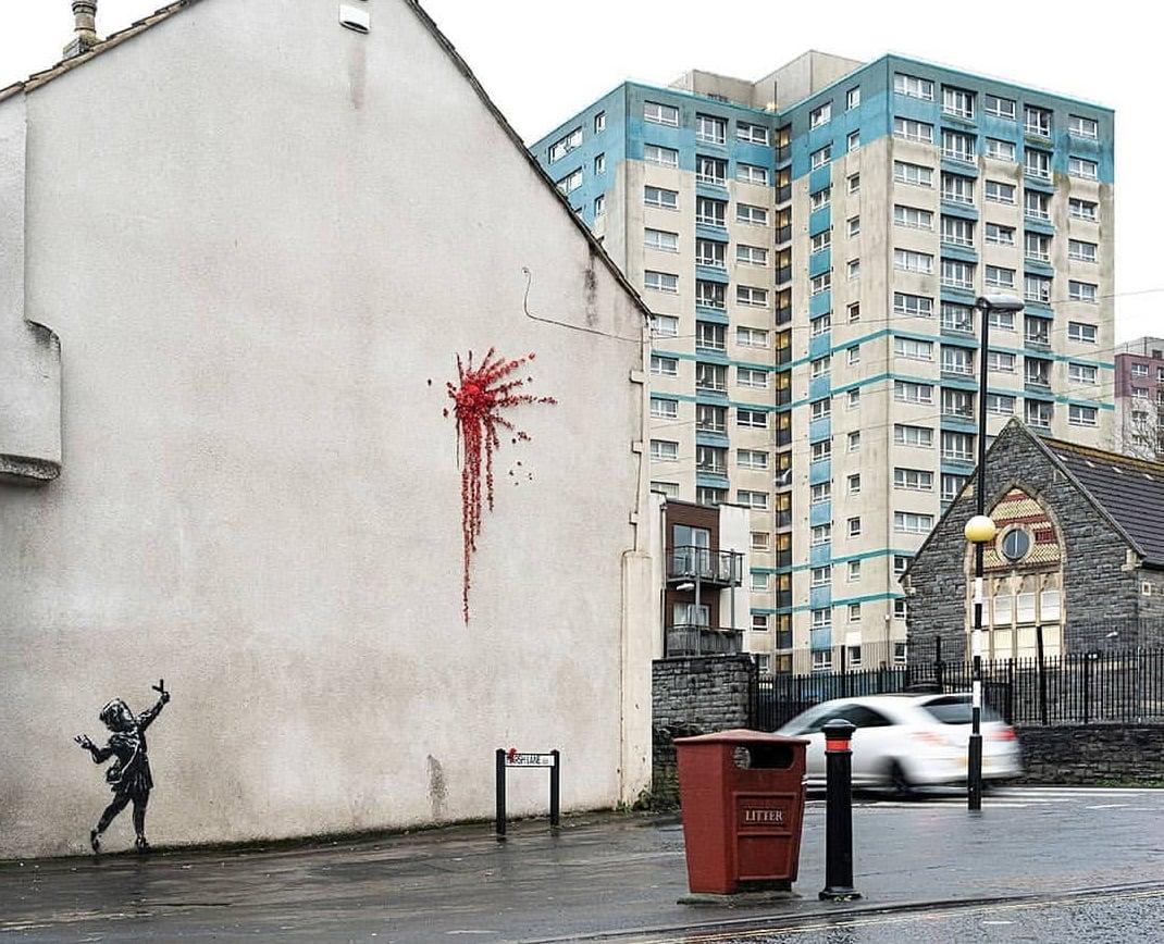 Bansky, il murale di Bristol per San Valentino