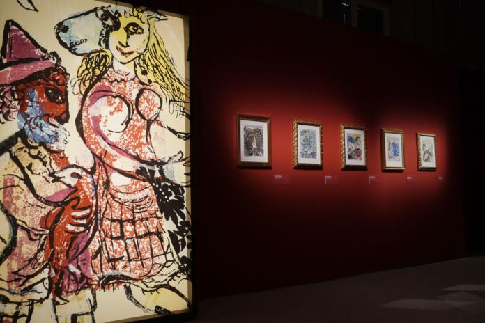 Chagall. Sogno e magia. Exhibition view at Palazzo Albergati, Bologna 2019. Photo Gianfranco Fortuna per Arthemisia