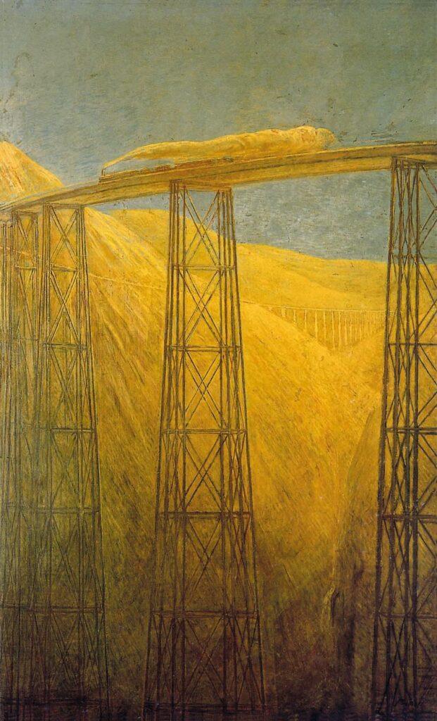 Gaetano Previati, Ferrovia del Pacifico, 1914 16, Camera di Commercio Metropolitana di Milano Brianza Lodi