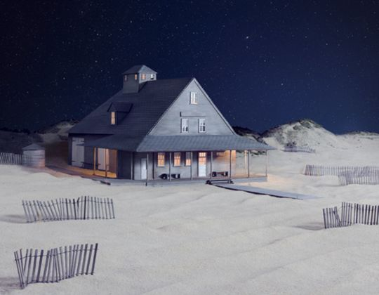 James Casebere, Party at Caffey's Inlet Lifesaving Station, 2013
