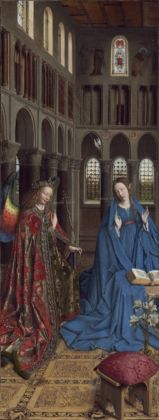 Jan van Eyck, Annunciazione, 1434-36. National Gallery of Art, Washington, Andrew W. Mellon Collection