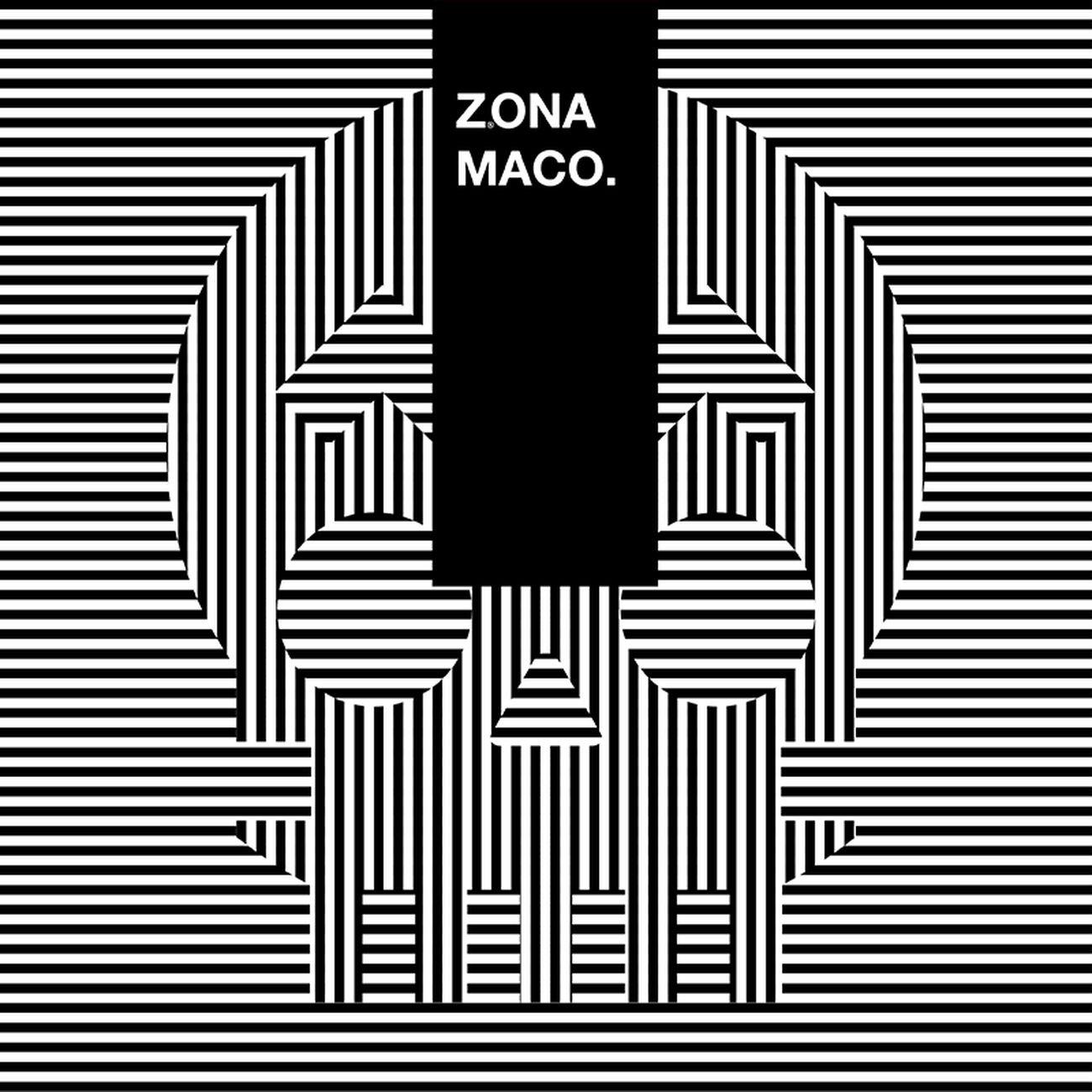 La grafica optical della fiera ZONAMACO a Città del Messico