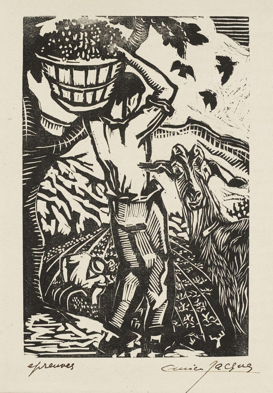 Lucien Jacques, dalla serie «…accompagnés de la flûte», 1959. Collection Association des amis de Lucien Jacques © Mucem François Deladerrière
