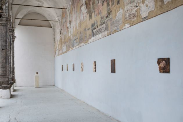 Nicola Samorì. Black Square. Exhibition view at Made in Cloister, Napoli 2020 © Danilo Donzelli Photography
