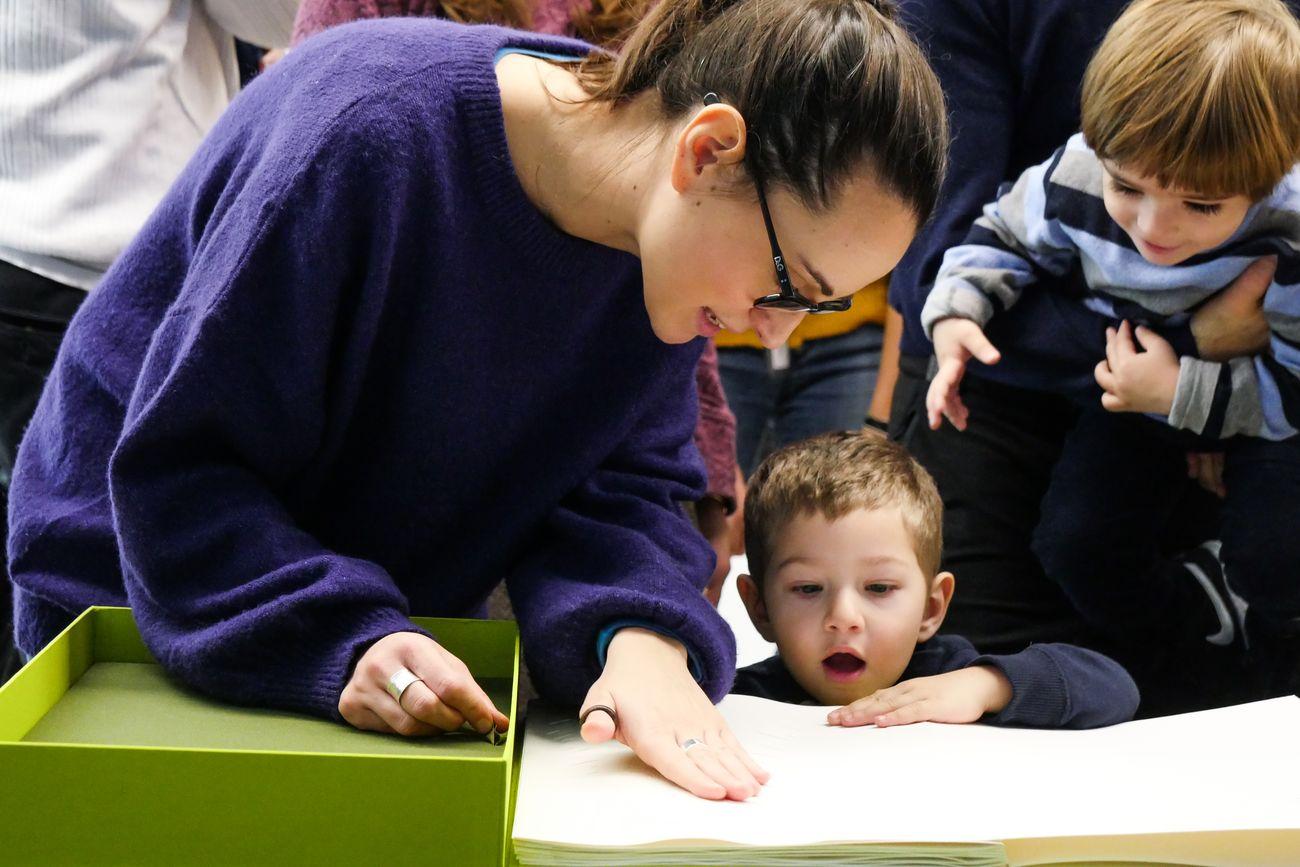 Omaggio a Maria Lai. Libri tattili e opere in Braille. MAXXI, Roma 2020. Photo Gianfranco Fortuna