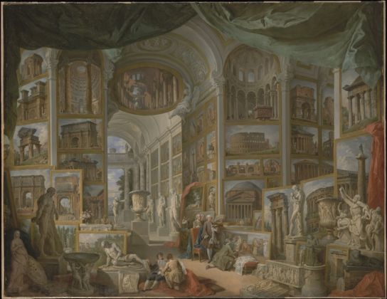 Giovanni Paolo Pannini, Roma Antica, olio su tela, 1757, New York, The Metropolitan Museum of Art