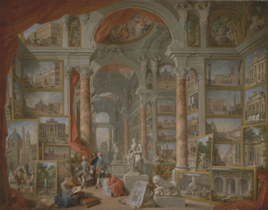 Giovanni Paolo Pannini, Roma Moderna, olio su tela, 1757, New York, The Metropolitan Museum of Art