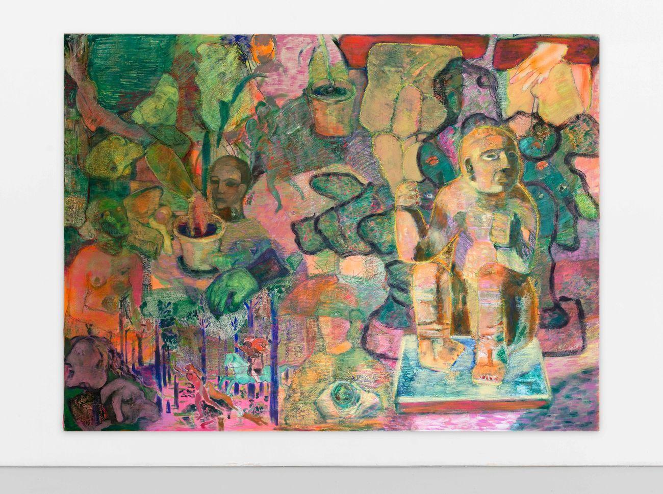 Paola Angelini, Collection, 2019. Tecnica mista su tela, cm 200x270