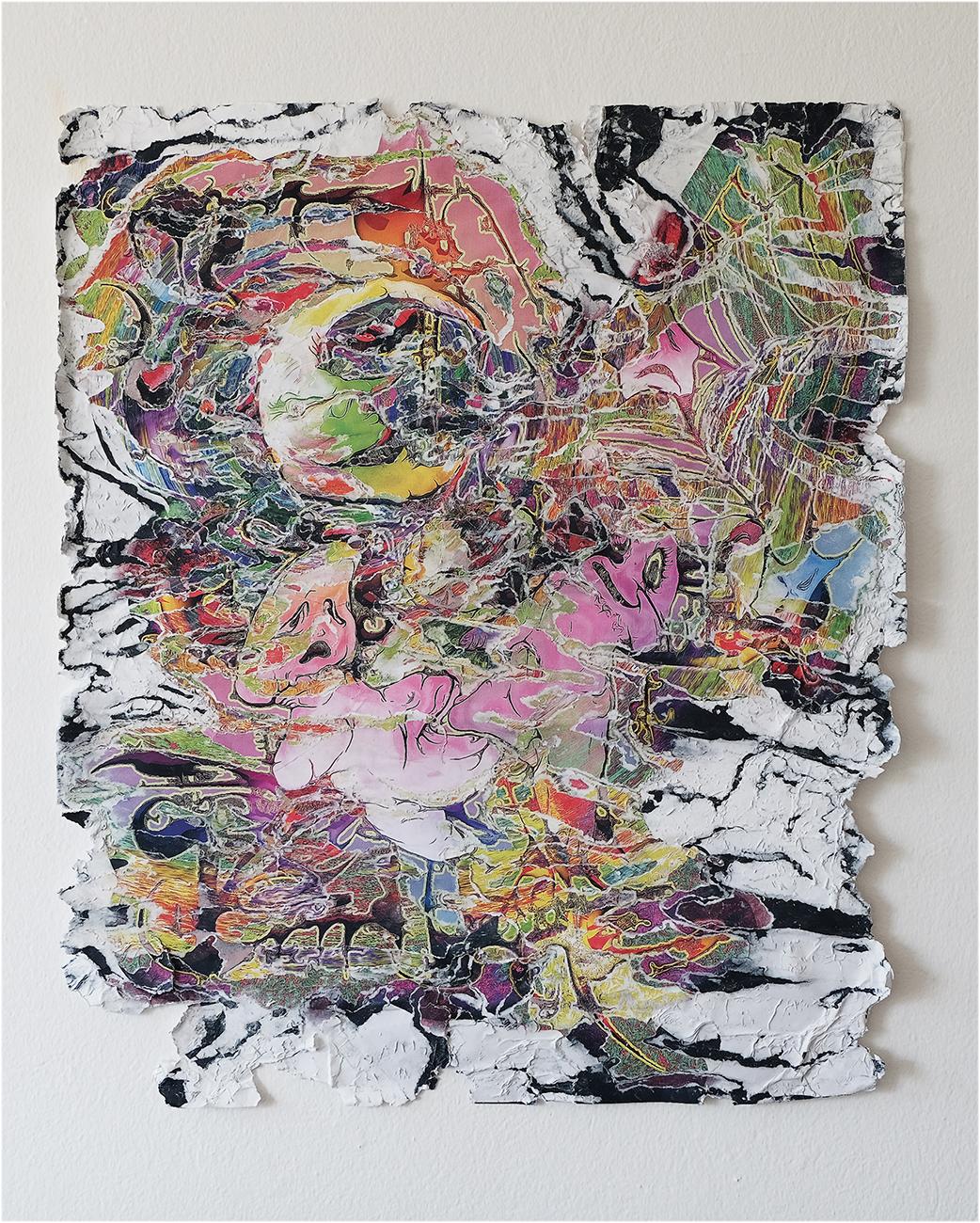 Pietro Agostoni, Pluffy, 2019. Carta, coccoina. Courtesy dell'artista