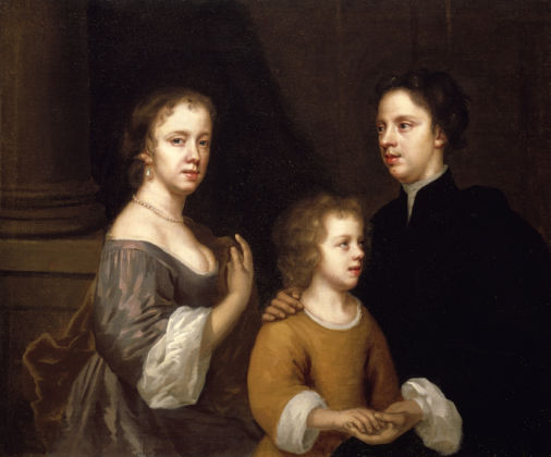 Mary Beale, Self-portrait of Mary Beale with her husband Charles and son Bartholomew, c.1660 © Geffrye Museum, London