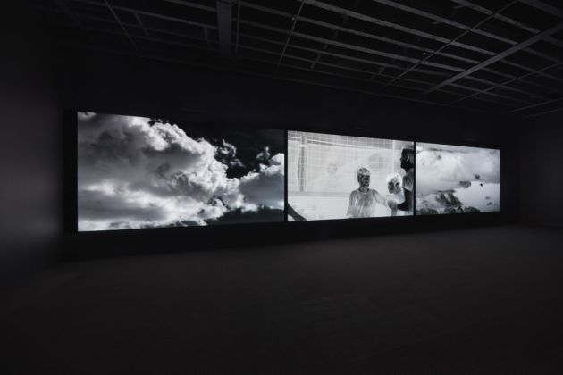 The Red Bean Grows in the South. Exhibition view at Faurschou New York, 2019. Richard Mosse, Incoming, 2014 17. Photo Tom Powel Imaging © Faurschou Foundation