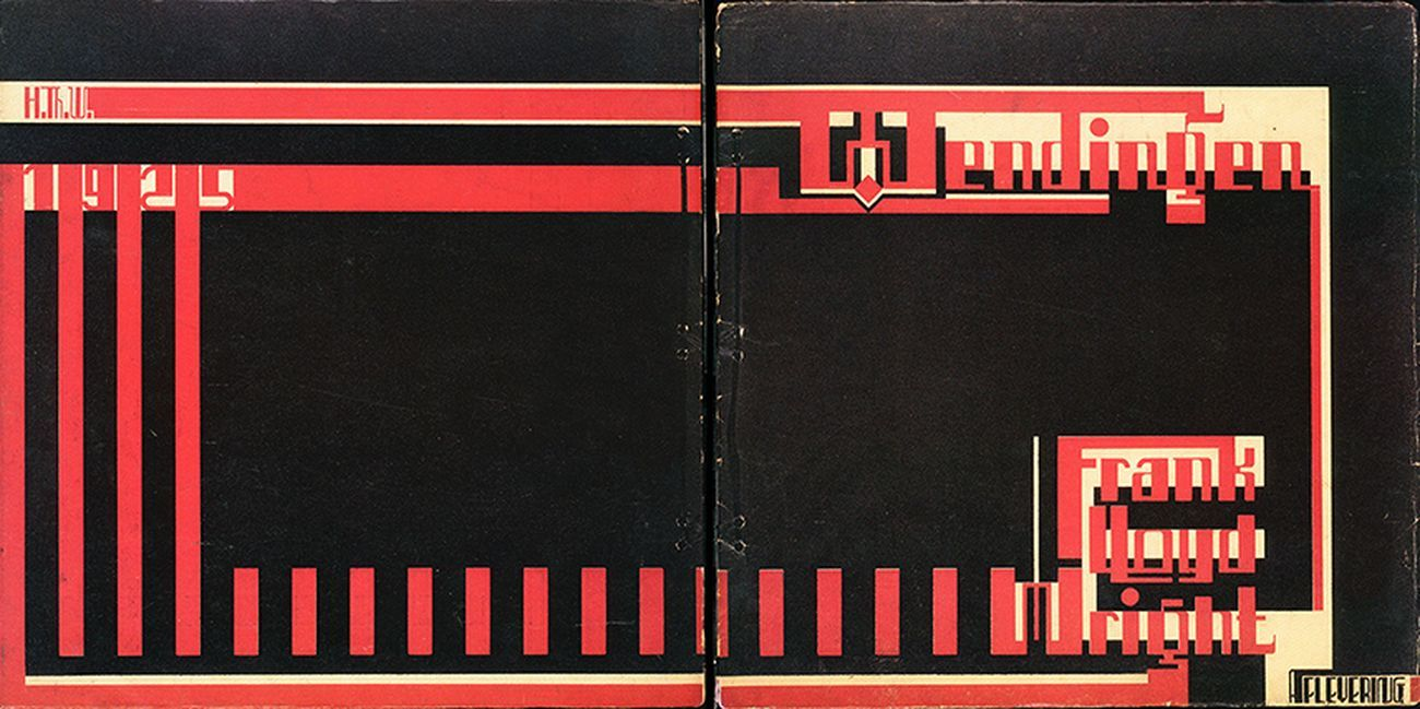 Wendingen, 1925 26, copertina dei fascicoli 1925 VII 3,4,5 e 1926 VII 6,7,8,9