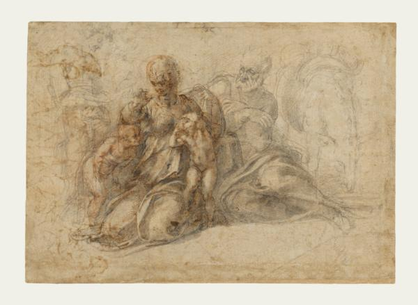 Michelangelo Buonarroti, The Holy Family with the Infant Saint John the Baptist. Credits: The J. Paul Getty Museum, Los Angeles