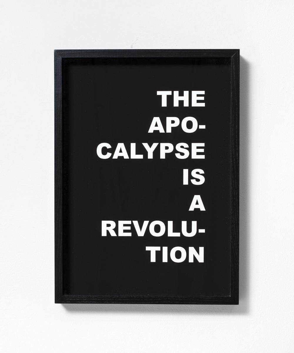 Pamela Diamante, The apocalypse is a revolution (2018), stampa su carta cotone, courtesy l'artista e galleria Gilda Lavia