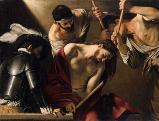 Caravaggio, The crowning with Thorns,Roma c.1603 , Vienna Kunsthistorisches Museum
