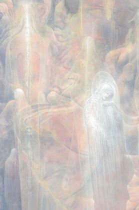 Agostino Arrivabene, illustrazione per la Divina Commedia, Canto III Paradiso (Piccarda Donati e Costanza d'Altavilla)