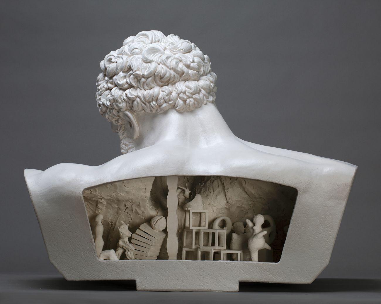 Andrea Salvatori, Copia da ...,(retro), 2019, ceramica, 68x88x60cm, photo Luca Nostri, courtesy collezione privata
