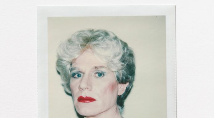 Andy Warhol, Self Portrait in Drag, 1981, Polacolor 2 © 2020 The Andy Warhol Foundation for the visual Arts, Inc. Licensed by DACS London. Courtesy BASTIAN London.
