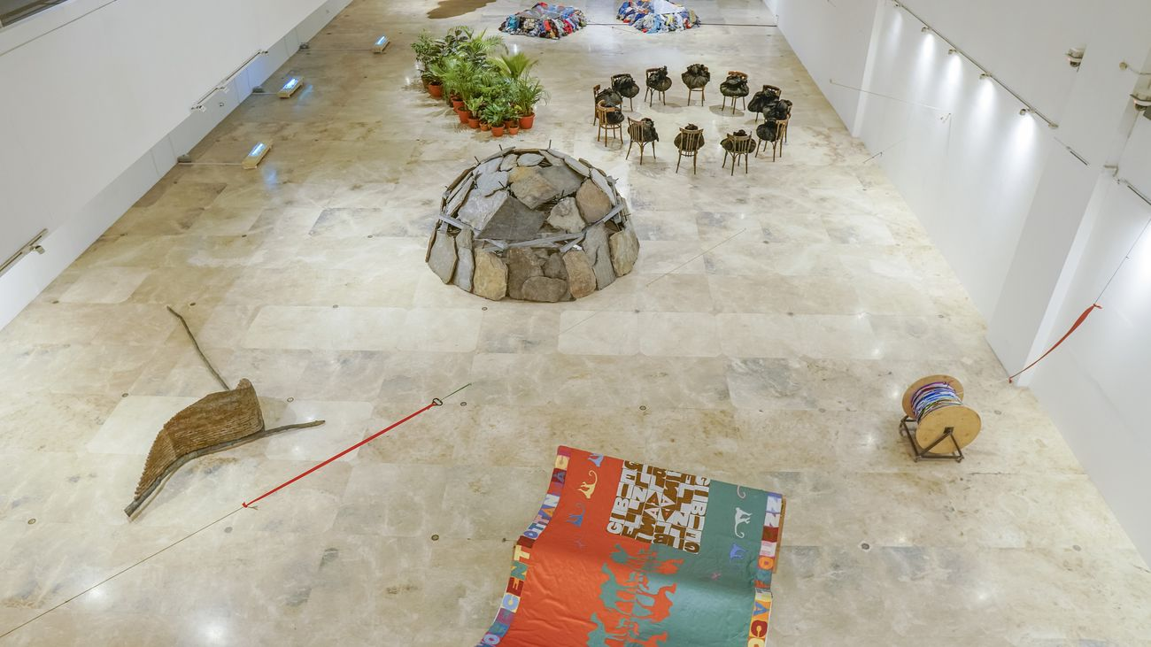 Arte Povera. Italian Landscape. Exhibition view at Metropolitan Museum, Manila 2020
