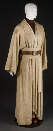 Costume for Obi-Wan Kenobi, played by Alec Guinness (1914-2000) in the 1977 film Star Wars: Episode IV - A New Hope, designed by John Mollo, 1977, USA. © LucasFilms Ltd