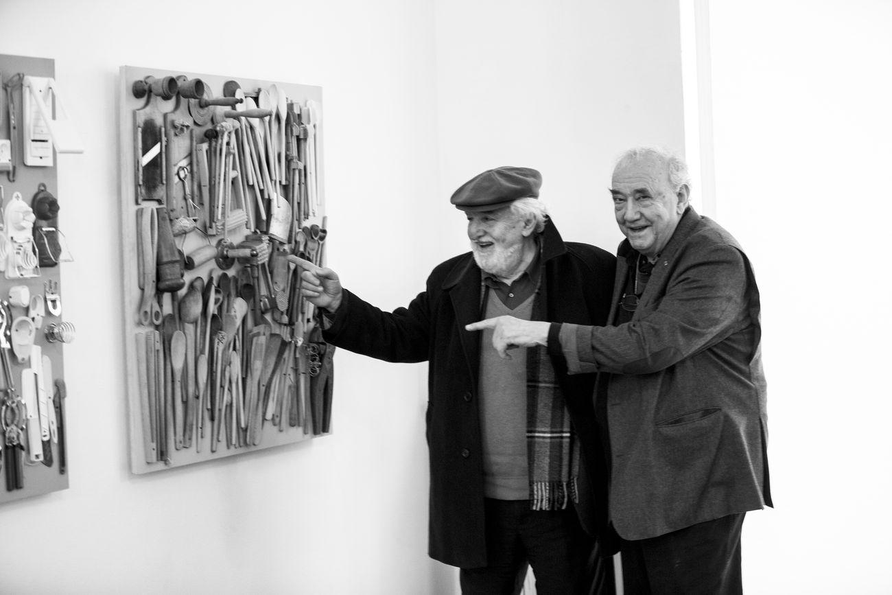 Daniel Spoerri e Gino Di Maggio