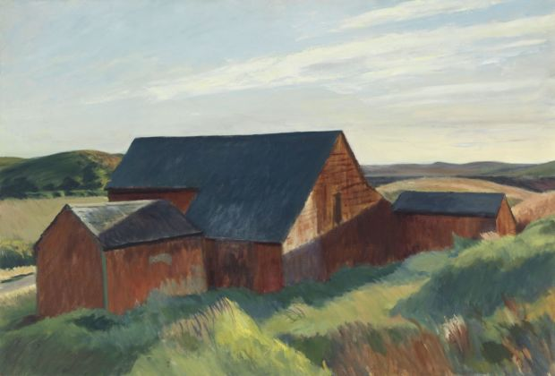Edward Hopper, Cobb's Barns, South Truro, 1930-33. Whitney Museum of America Art, New York © Heirs of Josephine Hopper - 2019, ProLitteris, Zurich. Photo © 2019. Digital image Whitney Museum of American Art - Licensed by Scala