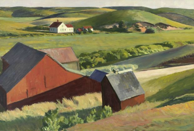 Edward Hopper, Cobb's Barns and Distant Houses, 1930-33. Whitney Museum of America Art, New York © Heirs of Josephine Hopper - 2019, ProLitteris, Zurich. Photo © 2019. Digital image Whitney Museum of American Art - Licensed by Scala