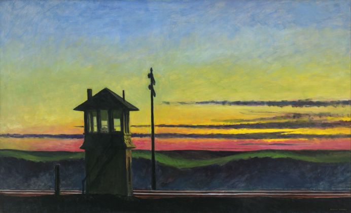 Edward Hopper, Railroad Sunset, 1929. Whitney Museum of American Art, New York © Heirs of Josephine Hopper - 2019, ProLitteris, Zurich. Photo © 2019. Digital image Whitney Museum of American Art - Licensed by Scala