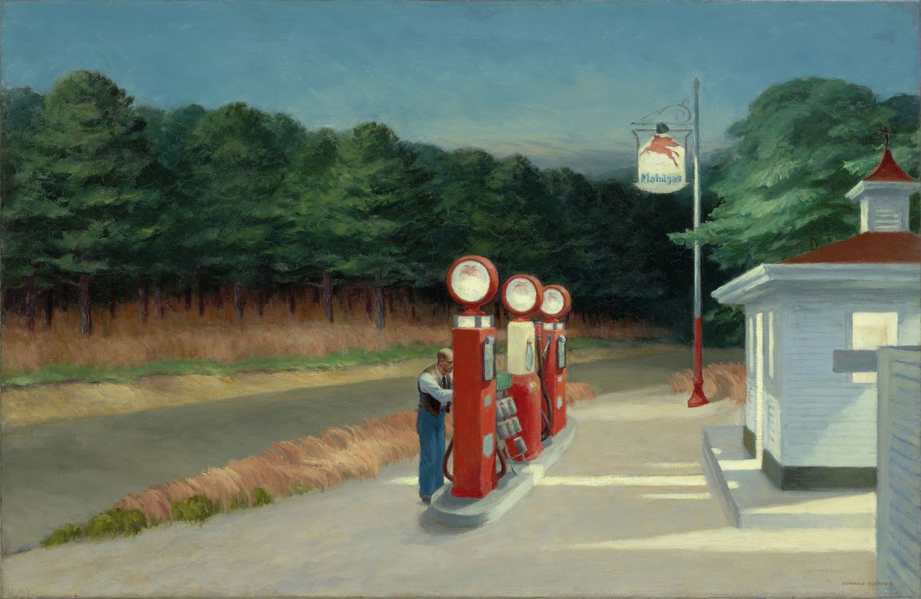 Edward Hopper, Gas, 1940. The Museum of Modern Art, New York © Heirs of Josephine Hopper - 2019, ProLitteris, Zurich. Photo © 2019 Digital image, The Museum of Modern Art, New York - Scala, Florence