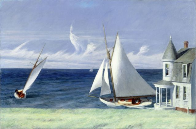 Edward Hopper, Lee Shore, 1941. Collezione privata © Heirs of Josephine Hopper 2019, ProLitteris, Zurich. Photo © 2019. Photo Art Resource Scala, Florence