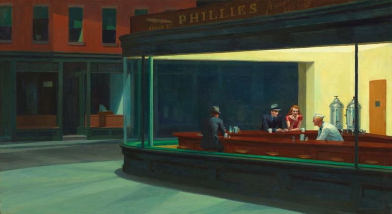 Edward Hopper, Nighthawks, 1942. The Art Institute of Chicago