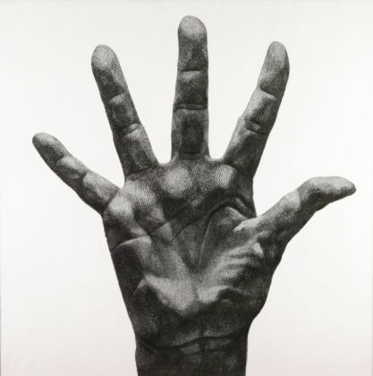 Florentina Pakosta, Large Hand with Fingers Spread (1980ca.), The ALBERTINA Museum, Vienna © Bildrecht, Vienna, 2020