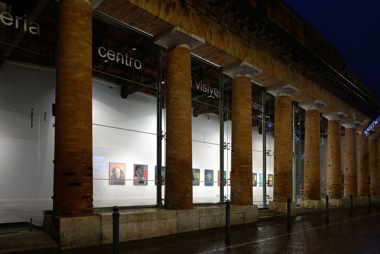 Gianni Politi, Benvenuto (anima del pittore giovane), 2019. Installation view at Centro Arti Visive Pescheria, Pesaro 2019. Photo credit Michele Alberto Sereni