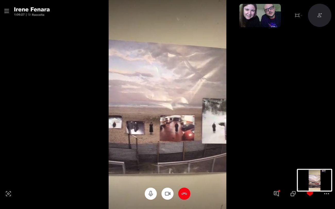 Lo studio visit virtuale da Irene Fenara con Treti Galaxie