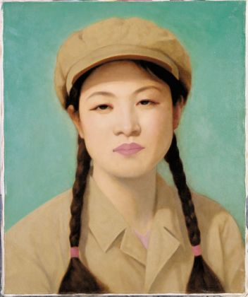 Qi Zhilong, Untitled (portrait of a girl, green), 1998. Courtesy Sigg Collection
