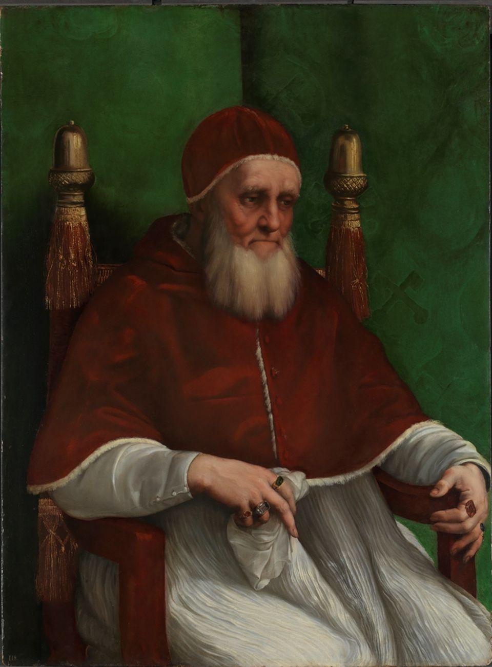 Raffaello, Ritratto di Giulio II, ante marzo 1512. Londra, The National Gallery © The National Gallery, London