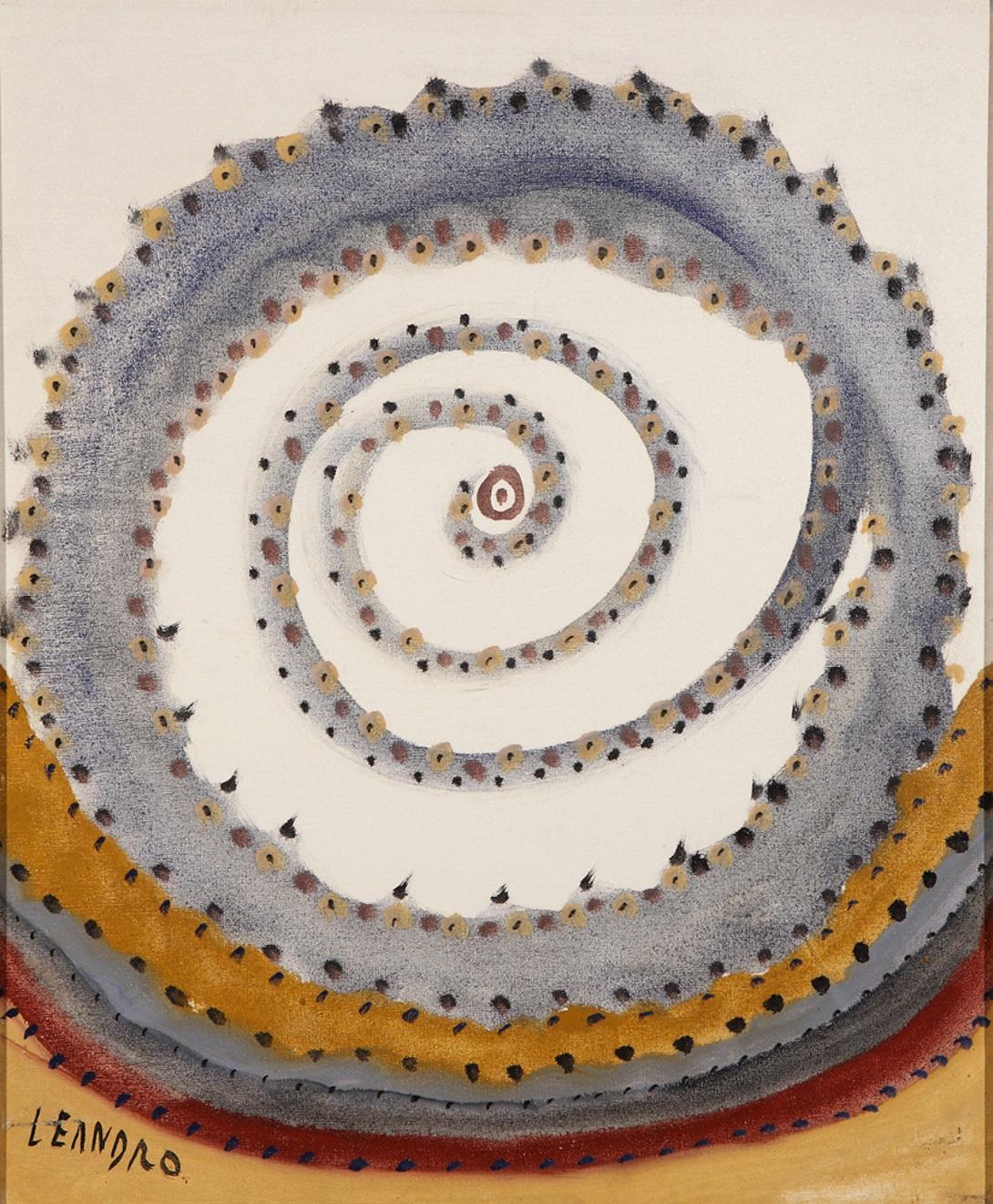 Senza titolo, tecnica mista su tela 60×50 cm. Lecce, collezione privata